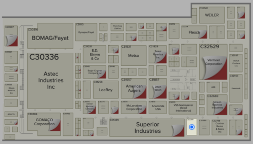ConExpo 2020 stand location